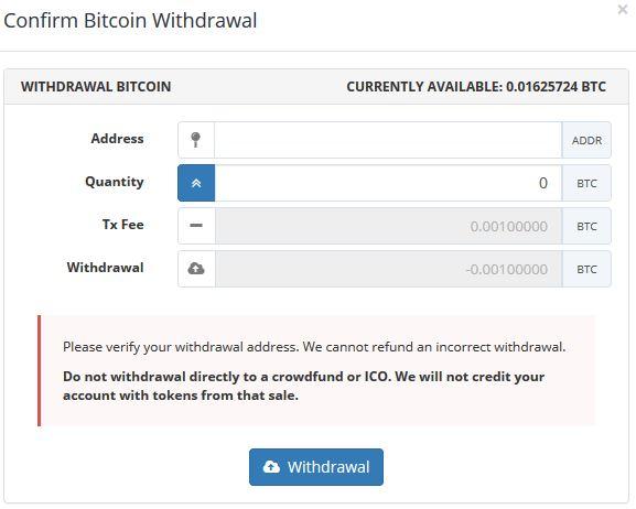 Achat de bitcoin Bittrex